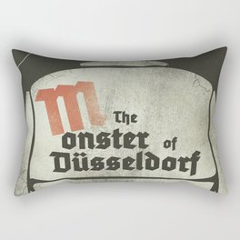 Fritz Lang, M The monster of Düsseldorf, Peter Lorre, minimalist movie, thriller, German film Rectangular Pillow