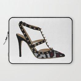 Leopard Valentino Rockstud pumps fashion illustration pink  Laptop Sleeve
