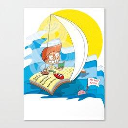 Reading saves lives Canvas Print
