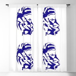 face6 blue Blackout Curtain