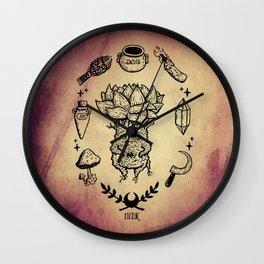 witchy succulent mandrake Wall Clock