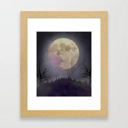 Spooky Night Framed Art Print
