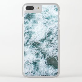 Waves in Abstract Clear iPhone Case