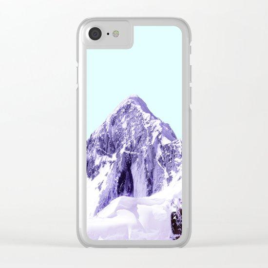 PURPLE MOUNTAIN Clear iPhone Case