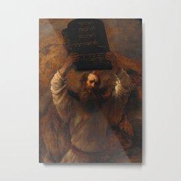 Moses with the Ten Commandments  Metal Print