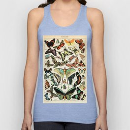 Papillon I Vintage French Butterfly Charts by Adolphe Millot Unisex Tank Top