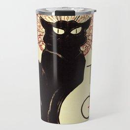 Theophile Alexandre Steinlen - The Black Cat Cabaret Travel Mug