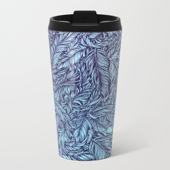 Feather story Metal Travel Mug