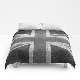 UK flag, High Quality Greyscale Retro Comforters
