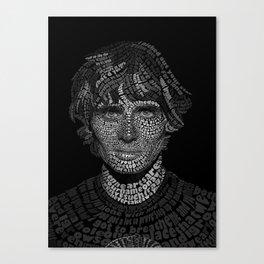 Tyson Ritter Word Portrait Canvas Print