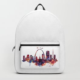 St Louis Watercolor Skyline Backpack