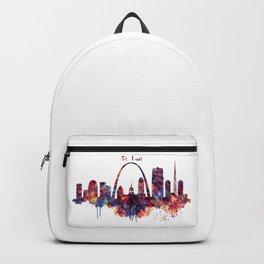 St Louis Watercolor Skyline Backpack