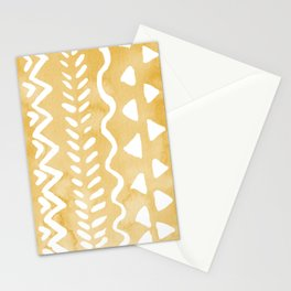 Loose bohemian pattern - yellow Stationery Cards