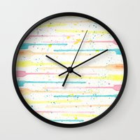 confetti Wall Clocks featuring Confetti by Tammy Kushnir