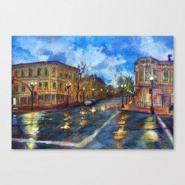 Reflective dawn, 9th Street Oakland Canvas Print