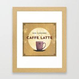 Caffe Latte Framed Art Print