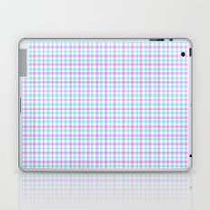 Gingham purple and teal Laptop & iPad Skin