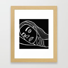 She's a Cool Girl Framed Art Print