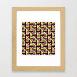 Rainbow Lattice Pattern Abstraction Framed Art Print