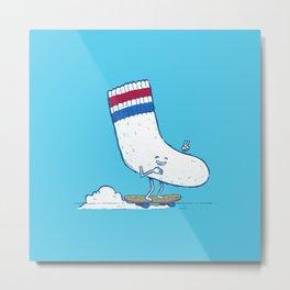 Lost Sock Skater Metal Print