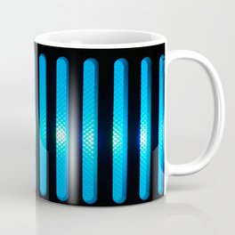 Blue Power Up Coffee Mug