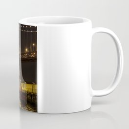Bay Bridge Fire Boat at Night Coffee Mug