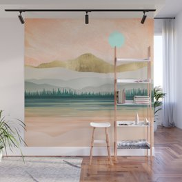 Spring Forest Lake Wall Mural