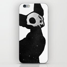 Black Cat Skull iPhone Skin