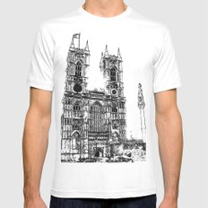 Westminster Abbey  MEDIUM Mens Fitted Tee White