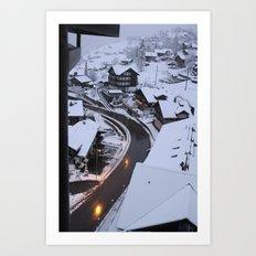 Wintery Grindelwald Art Print