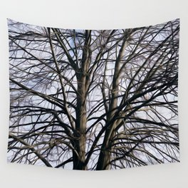 Stained Glass Tree Wall Tapestry