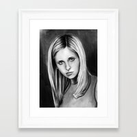 buffy Framed Art Prints featuring buffy by dollface87
