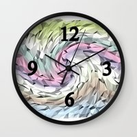 carousel Wall Clocks featuring Carousel by Laake-Photos