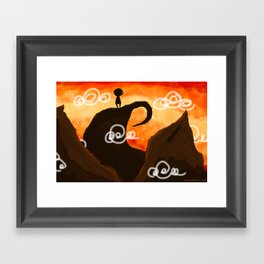 Sunset Dude Framed Art Print