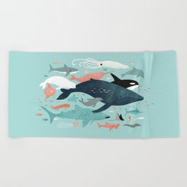 Under the Sea Menagerie Beach Towel