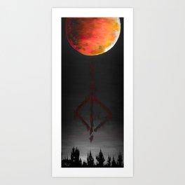 Paleblood - Bloodborne original acrylic painting Art Print