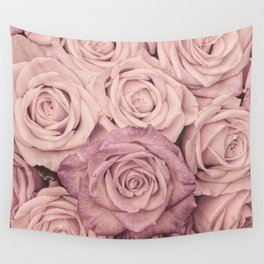 Some People Grumble - Pink Rose Pattern - Roses Wall Tapestry