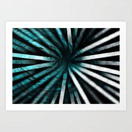 Circular Lines-Aqua Art Print