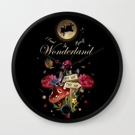 I Found Myself In Wonderland - Alice In Wonderland Wall Clock