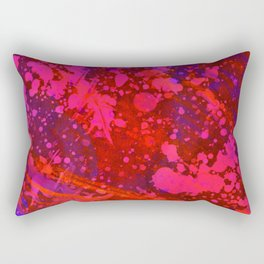 Horror Story - Abstract purple and red painting Rectangular Pillow