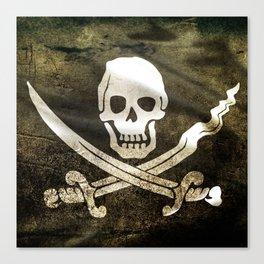 Pirate Skull in Cross Swords Canvas Print