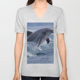 Bottenose dolphin Unisex V-Neck