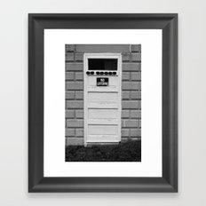 No Loitering Framed Art Print