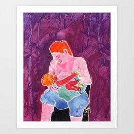 Breastfeeding Hungry Baby Art Print