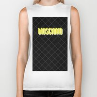 moschino Biker Tanks featuring MOSCHINO Quilted Bag by RickyRicardo787
