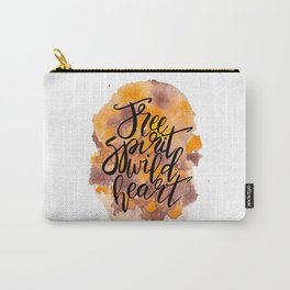 Free Spirit, Wild Heart Watercolour Carry-All Pouch