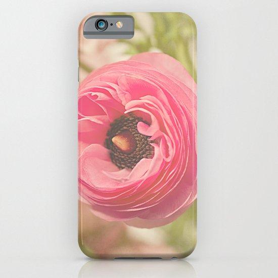 The Pretty Pink Ranunculus iPhone & iPod Case