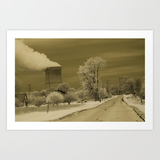 Infrared Nuclear Fallout Art Print