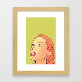 Ginger beauty Framed Art Print
