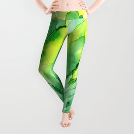 Spring Inspiration ~ Alcohol Ink Painting Leggings